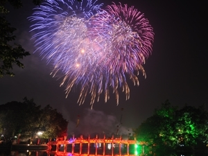 Hanoi fireworks on National Day - Vietnamtravelblog