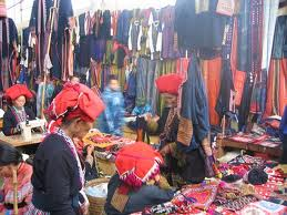 Ethnic market in Northern Vietnam