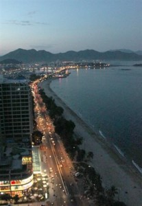 Nha Trang Bay at sunset taken from the Altitude Bar - Vietnamtravelblog