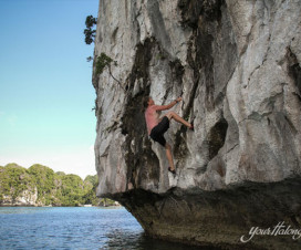Rock climbing Lan Ha Bay - Halong Bay tour to lan Ha